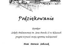 podziękowanie p.Sobczak