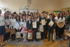 Uczestnicy X Gminnego Konkursu języka angielskiego