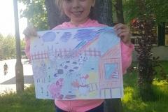 Maja z rysunkiem