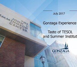 GONZAGA EXPERIENCE