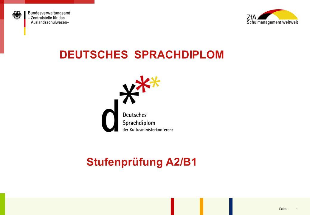 Stufenprüfung A2/B1.