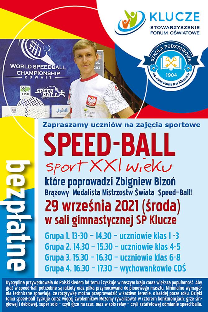 plakat zajęć speed bball
