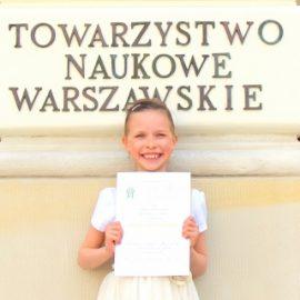 """Laureatka Ogólnopolskiego Konkursu """"Z kaligrafią na co dzień"""""""